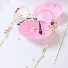 Rose Round Glasses Frame with Lolita Accessories