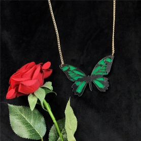 Acrylic Butterfly Chain Necklace