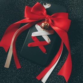 Red and White  Bow Bell Iphone Case