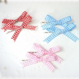 Hair Clip With Bow Grids