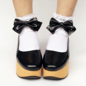 Custom Made  Elegant  Wooden Bows  Shoes