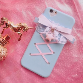 Pink Lolita Lace Ribbon Bow Iphone  Case