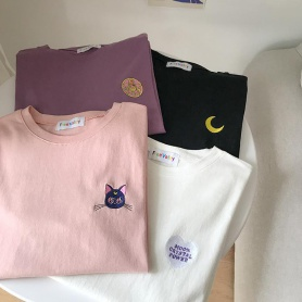 Sailormoon And Luna T-shirt 4 Characters Available
