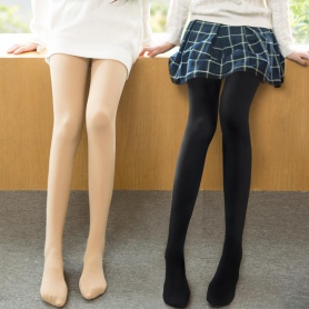 Pure Color Thick Velvet Tights
