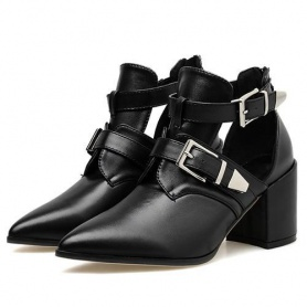 Pointed Toe Buckle Pumps Shoes