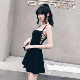 Gothic Side Lace Up Dress
