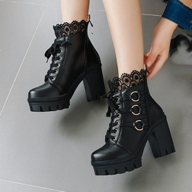 Victorian Lace O-Ring Boots