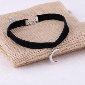 Gothic Wiccan Moon Choker Necklace