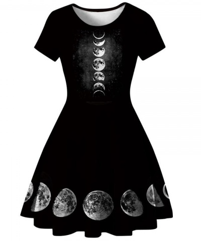 Witch Moon Phases A-Line Dress