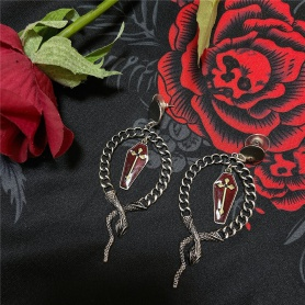 Gothic  Snake&Coffin High Quality Earrings