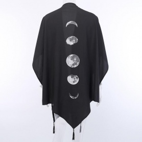 Moon Phases Batwing Cape Coat