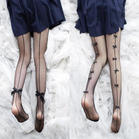 Sexy Fishnet Stockings with Bowknots Decoration