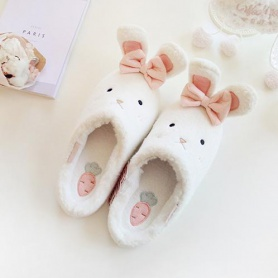 Bunny Fluffy Slippers With Ears
