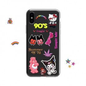 Vintage 90s Stickers Phone Case For iPhone/HUAWEI