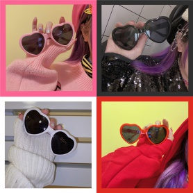 Sweetie Heart Shape Sunglasses With Case