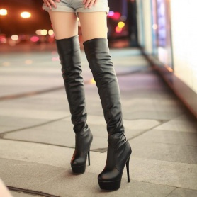 Gothic Over The Knee High Heel Boots