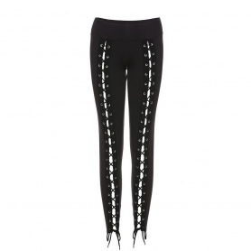 Sexy Lace Up Front Leggings Pants